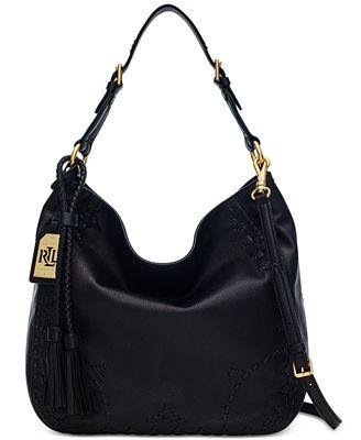 Lauren Ralph Lauren Ridley Hobo - Handbags & Accessories - Macy's