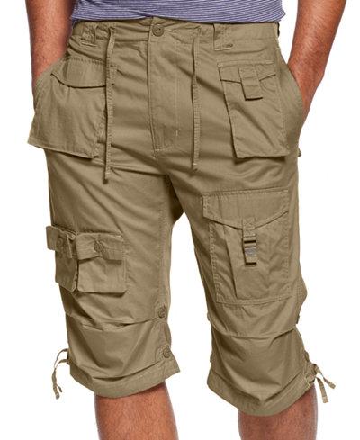 Sean John Men's Classic Flight Cargo Shorts, Only at Macy's - Guys ...