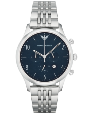 Emporio Armani Men's Chronograph Beta Stainless Steel Bracelet Watch 43mm AR1942
