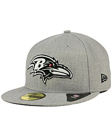Baltimore Ravens Heather Black White 59FIFTY Fitted Cap