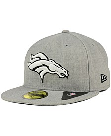 Denver Broncos Heather Black White 59FIFTY Fitted Cap