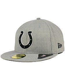 New Era Indianapolis Colts Heather Black White 59FIFTY Fitted Cap