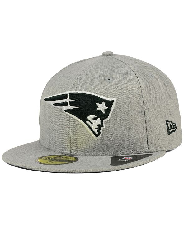 New Era New England Patriots Heather Black White 59FIFTY Fitted Cap