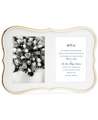 Crown Point Collection Gold-Plated Double Invitation Frame