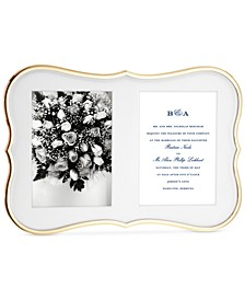 new york Crown Point Collection Gold-Plated Double Invitation Frame