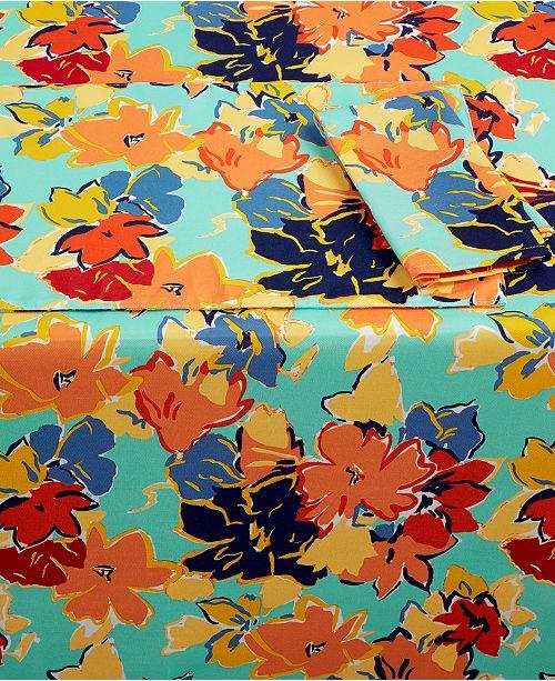 "Fiesta Sedona Table Linens Collection 84"" Oblong Tablecloth"