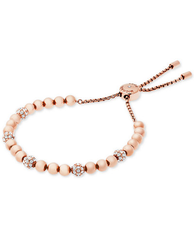 Michael kors beaded pav slider bracelet jewelry for Macy s jewelry clearance