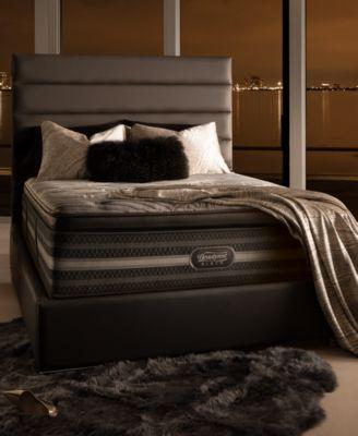 beautyrest black suri plush pillow top mattress set king
