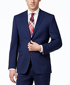Lauren Ralph Lauren Navy Solid Total Stretch Slim-Fit Jacket