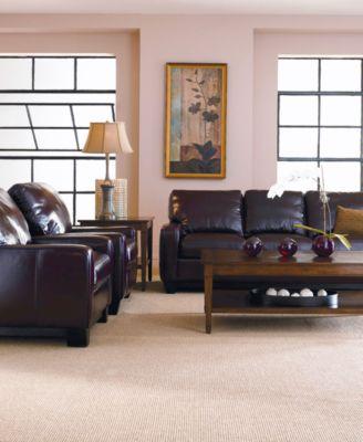 H&ton Leather Sofa Living Room Furniture Collection & Hampton Leather Recliner - Furniture - Macyu0027s islam-shia.org