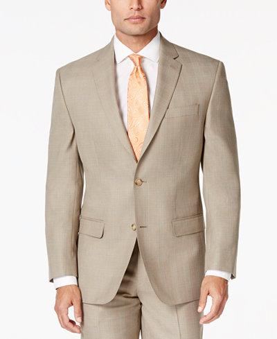 Sean John Men's Big & Tall Classic-Fit Tan Plaid Jacket