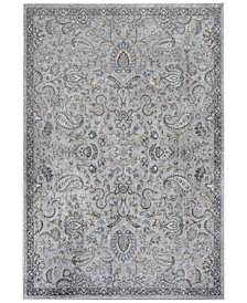 Kas Provence Kashan Grey/Blue Area Rugs