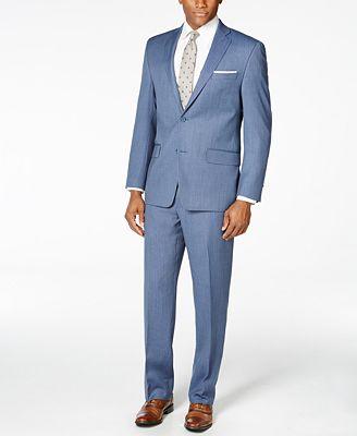 MICHAEL Michael Kors Men's Medium Blue Pindot Classic-Fit Suit