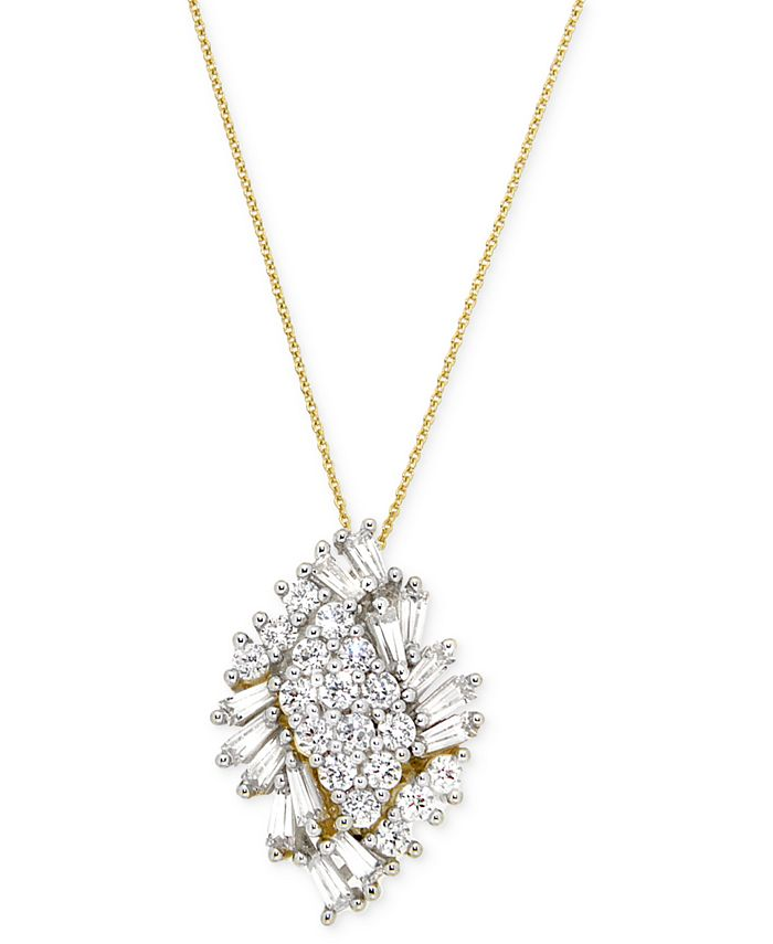 Wrapped in Love - Diamond Cluster Pendant Necklace (1 ct. t.w.) in 14k Gold