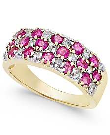 Ruby (1-5/8 ct. t.w.) and Diamond (1/3 ct. t.w.) Band in 14k Gold