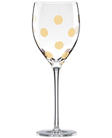 kate spade new york Pearl Place Collection Wine Glass