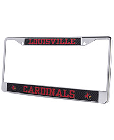 Stockdale Louisville Cardinals Carbon Laser License Plate Frame