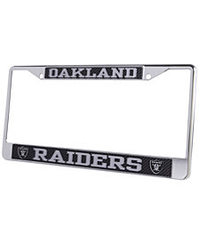 Stockdale Oakland Raiders Carbon Laser License Plate Frame
