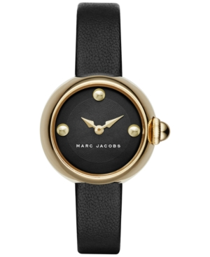 Marc Jacobs Women's Courtney Black Leather Strap Watch 28mm