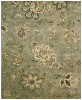 "Rajah Tapestry Silver 7'9"" x 9'9"" Area Rug"