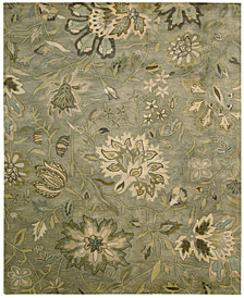 "Nourison Rajah Tapestry Silver 7'9"" x 9'9"" Area Rug"