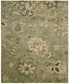"""Nourison Rajah Tapestry Silver 3'9"""" x 5'9"""" Area Rug"""