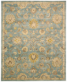 "Nourison Rajah Arabesque Light Blue 5'6"" x 8'6"" Area Rug"