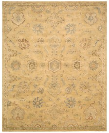 "Nourison Rajah Mauryan Light Gold 5'6"" x 8'6"" Area Rug"