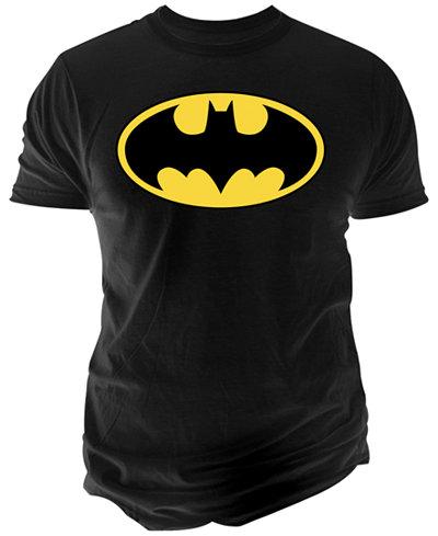Men's DC Comics Basic Batman Logo Graphic-Print T-Shirt from Changes