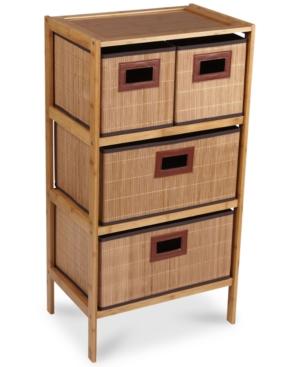 Household Essentials Bamboo 4Drawer Storage Chest