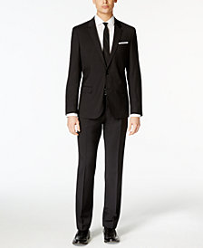 HUGO Men's Black Slim-Fit Suit Separates