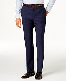 HUGO Men's Blue Slim-Fit Pants