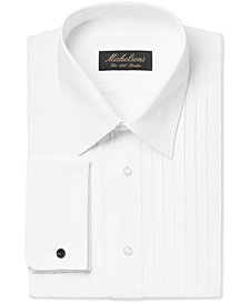 Michelsons Men's Classic-Fit Pleated Point Collar Tuxedo Shirt with French Cuffs