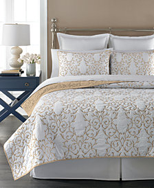 Martha Stewart Collection  100% Cotton Chateau Full/Queen Quilt, Created for Macy's