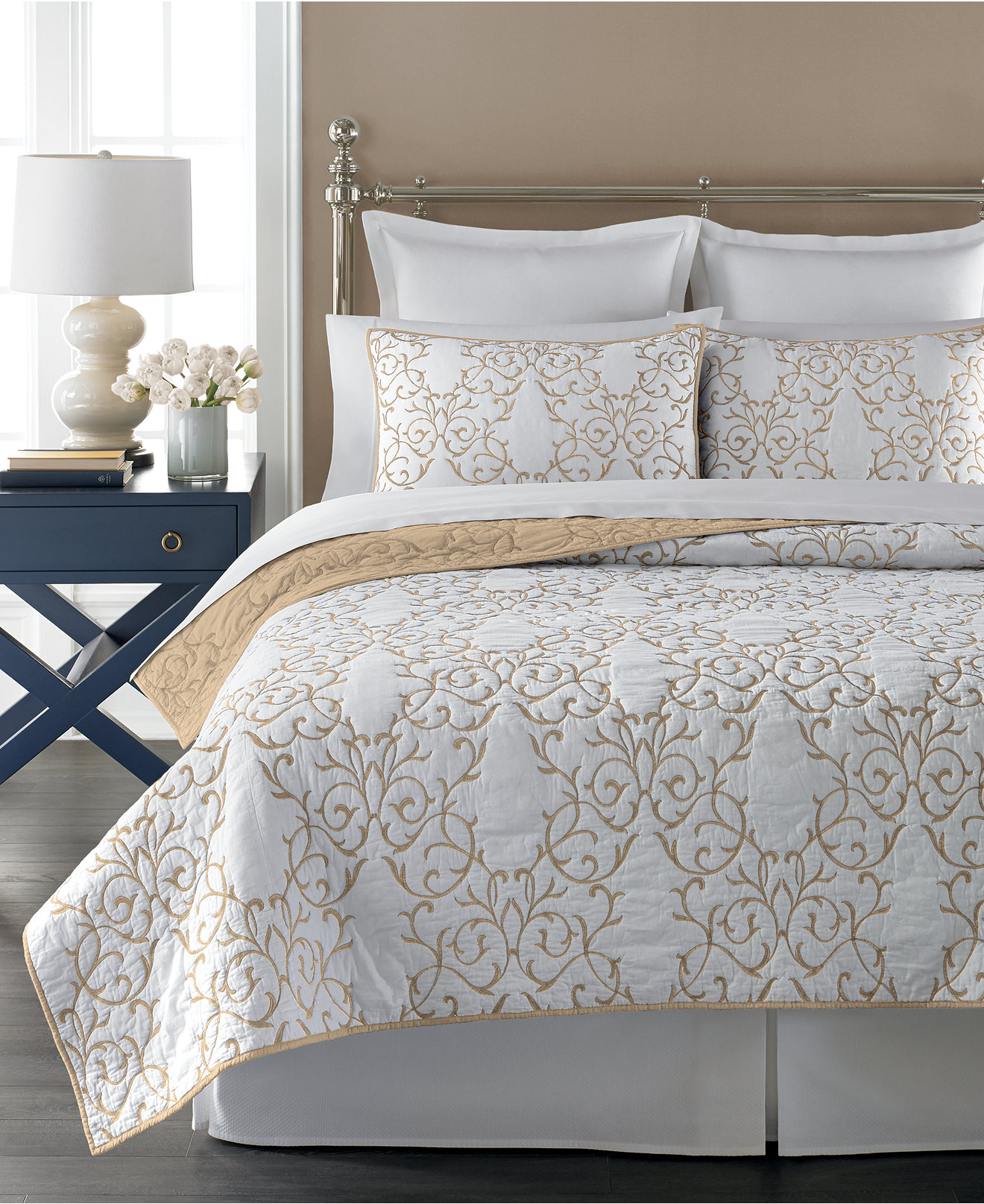 Martha Stewart Collection Chateau Latte Quilts  Created for Macy s   Martha Stewart Collection Chateau Latte Quilts  Created for Macy s   Quilts    Bedspreads   Bed   Bath   Macy s. Bedroom Quilts. Home Design Ideas