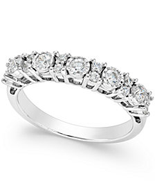 TruMiracle® Diamond Anniversary Band (1/2 ct. t.w.) in 14k White Gold