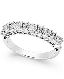TruMiracle® Diamond Anniversary Band (1/2 ct. t.w.) in 14k White Gold