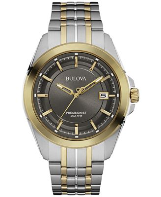 Bulova Men's Precisionist Two-Tone Stainless Steel Bracelet Watch 43mm 98B273