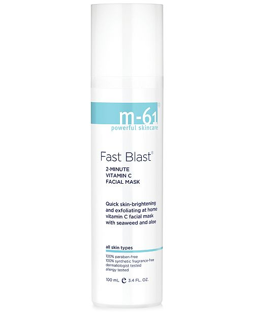 m-61 by Bluemercury Fast Blast 2 Minute Vitamin C Facial Mask, 3.4 oz