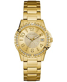 Women's Gold-Tone Stainless Steel Bracelet Watch 36mm U0779L2