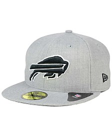 New Era Buffalo Bills Heather Black White 59FIFTY Fitted Cap