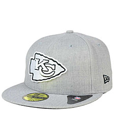 New Era Kansas City Chiefs Heather Black White 59FIFTY Fitted Cap