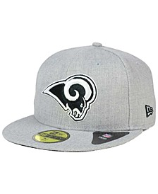 Los Angeles Rams Heather Black White 59FIFTY Fitted Cap