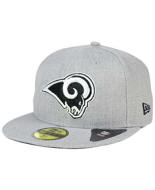 low priced 65c0e ddc06 ... New Era Los Angeles Rams Heather Black White 59FIFTY Fitted Cap ...