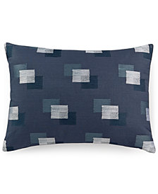 "Hotel Collection Colonnade Blue 16"" x 20"" Decorative Pillow"