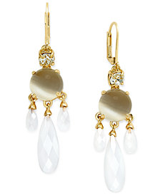 kate spade new york Gold-Tone Stone and Crystal Chandelier Earrings
