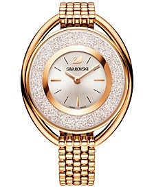 Women's Swiss Crystalline Rose Gold-Tone Stainless Steel Watch 43mm