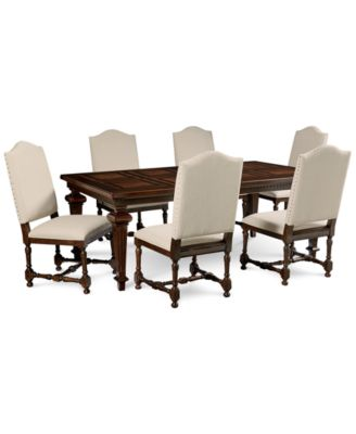 Cortwright 7 Piece Dining Set (Expandable Dining Table u0026 6 Side Chairs)  sc 1 st  Macyu0027s & Furniture Cortwright Dining Furniture Collection - Furniture - Macyu0027s