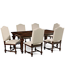 CLOSEOUT! Cortwright 7 Piece Dining Set (Expandable Dining Table & 6 Side Chairs)