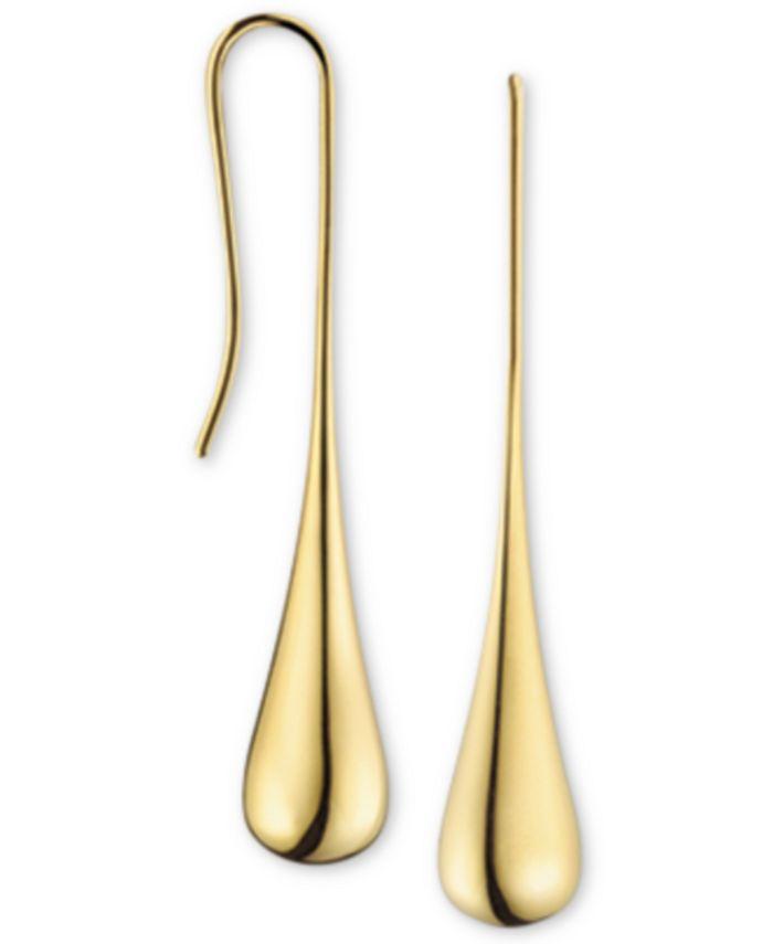 Calvin Klein - ellipse Gold-Tone PVD Stainless Steel Drop Earrings KJ3QJE100100